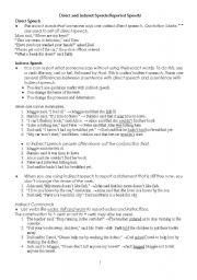 English Worksheets: Direct&Indirect