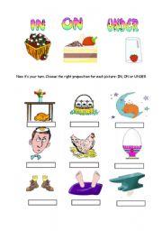 Grammar worksheets > Prepositions > In/on/under > Prepositions: IN ...