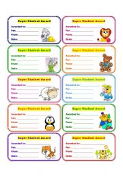 English Worksheet: AWARDS 4