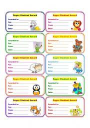 English Worksheets: AWARDS 4