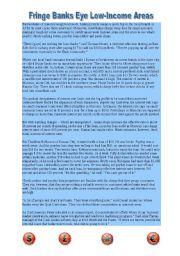 English Worksheet: Banks