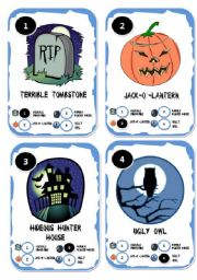 graphic relating to Printable Go Fish Cards identified as Halloween Move Fish Card Recreation - ESL worksheet through helena.helena