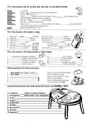 English Worksheet: SOME,ANY,COUNTABLE, UNCOUNTABLE