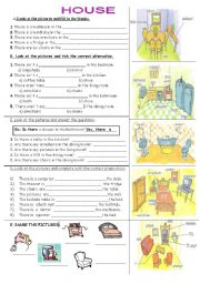 English Worksheets: HOUSE