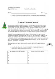 English Worksheets: Christamas Present