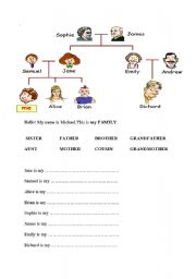 the family tree esl worksheet by tormenta means snowstorm in italian. Black Bedroom Furniture Sets. Home Design Ideas