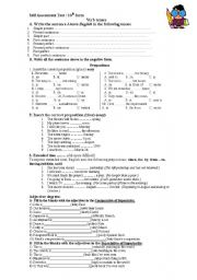 English Worksheets: Sel assessment tesy