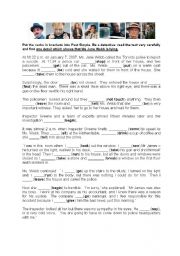 English Worksheet: Detective story - irregular verbs