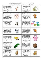English Worksheets: Pets and animals dominos