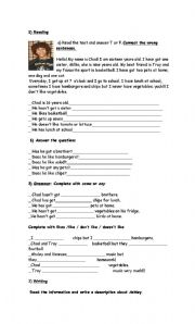 English Worksheet: High school musical exam