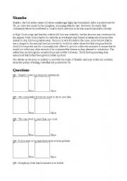 English Worksheets: Shambo