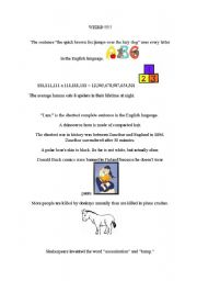 English Worksheets: Weird information
