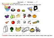 English Worksheets: How much and how many