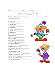 English Worksheets: Silly Similes