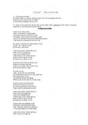English Worksheets: Cryin� by Aerosmith