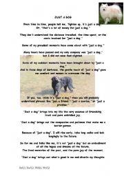 English Worksheets: Just A Dog