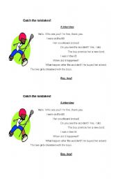 English Worksheets: Catch your mistakes
