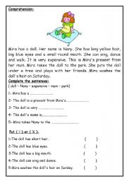 English Worksheets: Comprehension