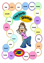 English Worksheets: The body game