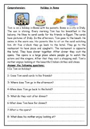English Worksheets: Holiday in Rome