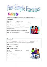 Past Simple of verb to be