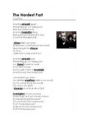 English Worksheet: The Hardest Part - song by Coldplay