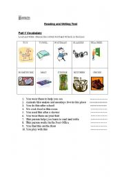 English Worksheet: Cambridge Exams for young Learners MOVERS