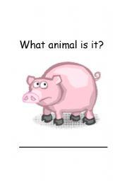 English Worksheets: Pig