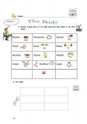 English Worksheets: Body - bingo
