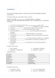 English Worksheets: Vocab Worksheets