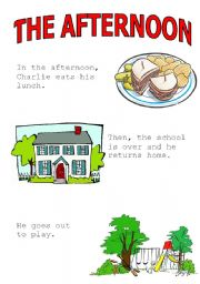 English Worksheets: the afternoon