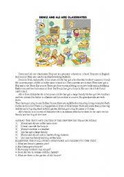 English Worksheet: read�ng comprehension
