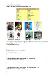 English Worksheets: comparing people