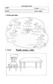English worksheet: a bit of