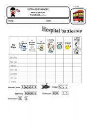 English Worksheet: Hospital battleship