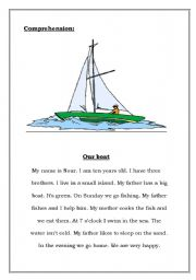 English Worksheet: Our Boat