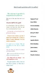 English Worksheets: FUN WITH QUOTATIONS :)
