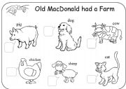 English Worksheets: Old MacDonald Had A Farm