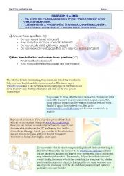 English Worksheets: familiarize students with TIC