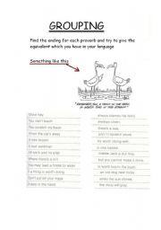 English Worksheets: grouping