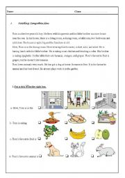 English Worksheets: English test