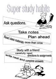 English Worksheets: Study habits