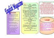 English Worksheets: English magazne