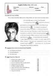 English Worksheets: Harry Potter (Daniel Radcliffe)