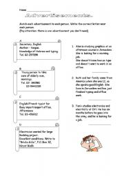 English Worksheet: Advertisements
