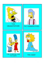 Simpson family flashcards  2