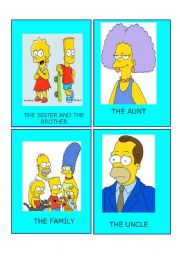Simpson family flashcards 3