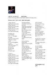 English Worksheet: Song Get up, Stand up by Bob Marley
