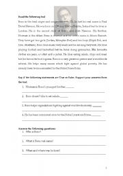 English Worksheets: Bono