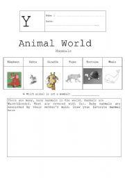 English Worksheets: Animal world